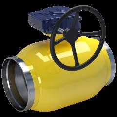 Шровые краны для газа с редукторами и приводами