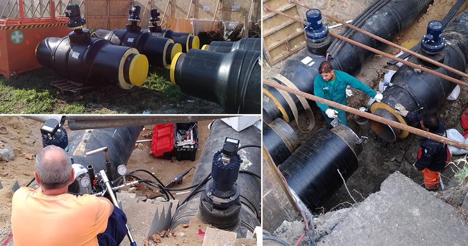 Hydrox actuators with Vexve valves